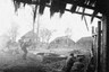 Советская контратака в деревне, Западный фронт, октябрь 1941 года