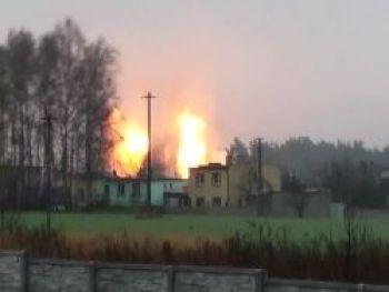 Взрыв газопровода в Польше: пламя поднялось на высоту 10 метров